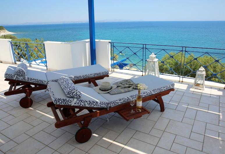 Aliki Studios, Chios, Apartament typu Superior, widok na morze, Taras/patio