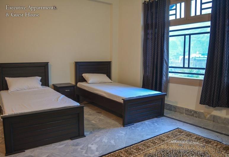 Executive Apartments & Guest House Swat, Mingora, Apartmán typu Executive, 1 veľké oddelené lôžko, fajčiarska izba, výhľad na mesto, Izba