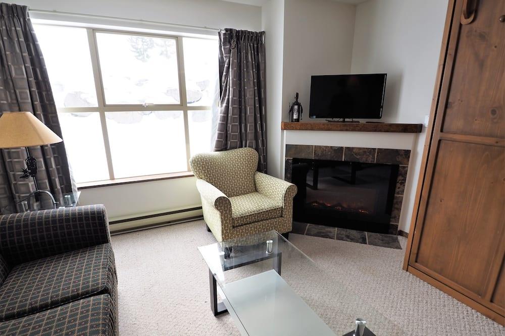 公寓客房, 1 間臥室, 熱水浴缸 (Apex Mountain Inn 223-224) - 客廳