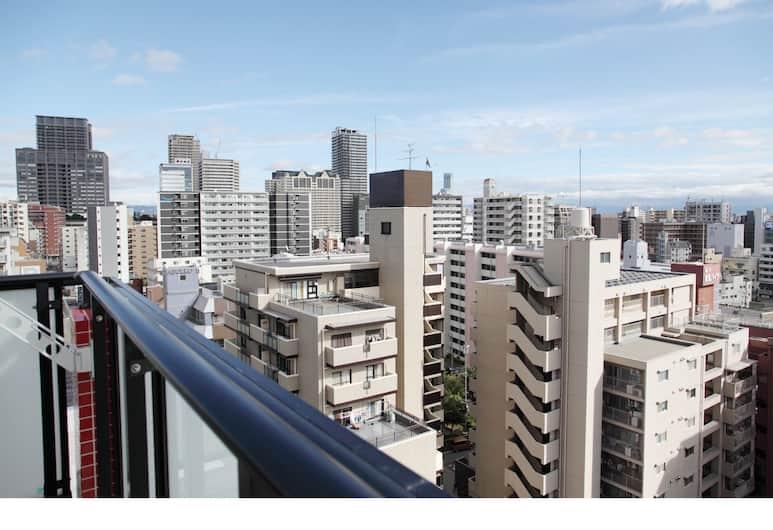 ブルー ビー 難波 1302, 大阪市, スタンダード ルーム, バルコニーからの眺望