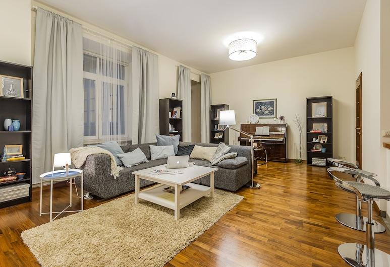 GM Apartment Serafimovicha 2, Moskva, Premium apartman, 1 spavaća soba, za nepušače, pogled na grad, Dnevni boravak