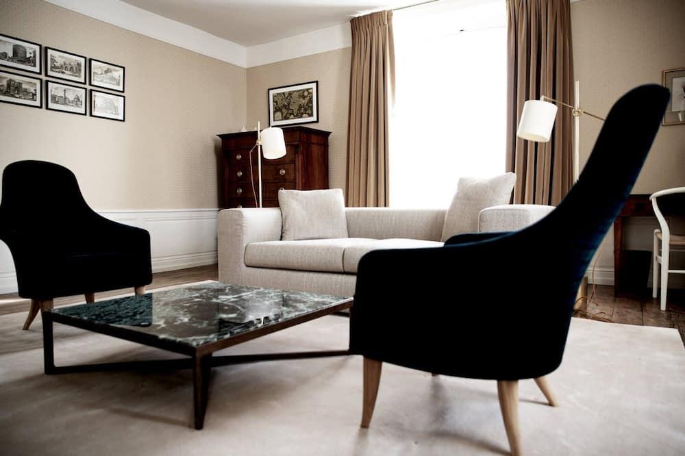 Двухместный номер с 1 двуспальной кроватью, вид на город (Chambre n°1) - Зона гостиной