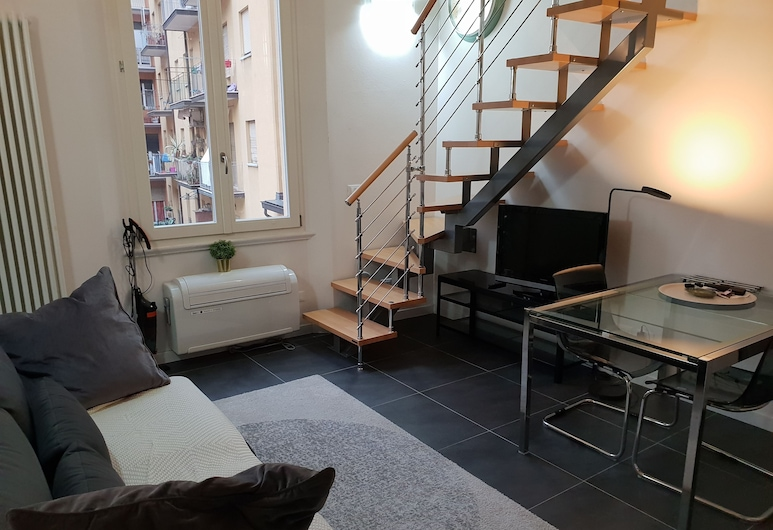Loft Irnerio, Bologna, Appartement, 1 slaapkamer, Woonruimte