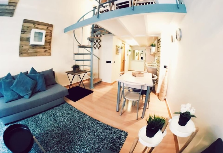 Lollipop Flats City Centre Grand Suite, Madrid, Maisonette, 1 Schlafzimmer, Wohnzimmer