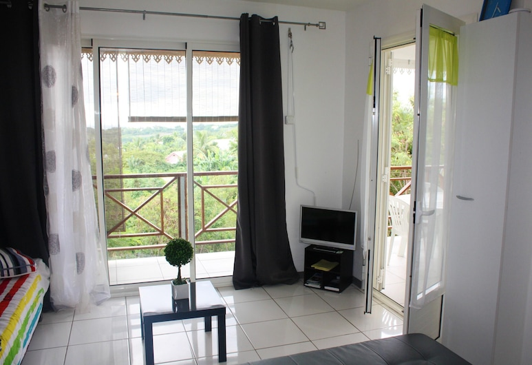 House With one Bedroom in Saint Paul, With Wonderful sea View, Enclosed Garden and Wifi - 6 km From the Beach, Saint-Paul, Living Room