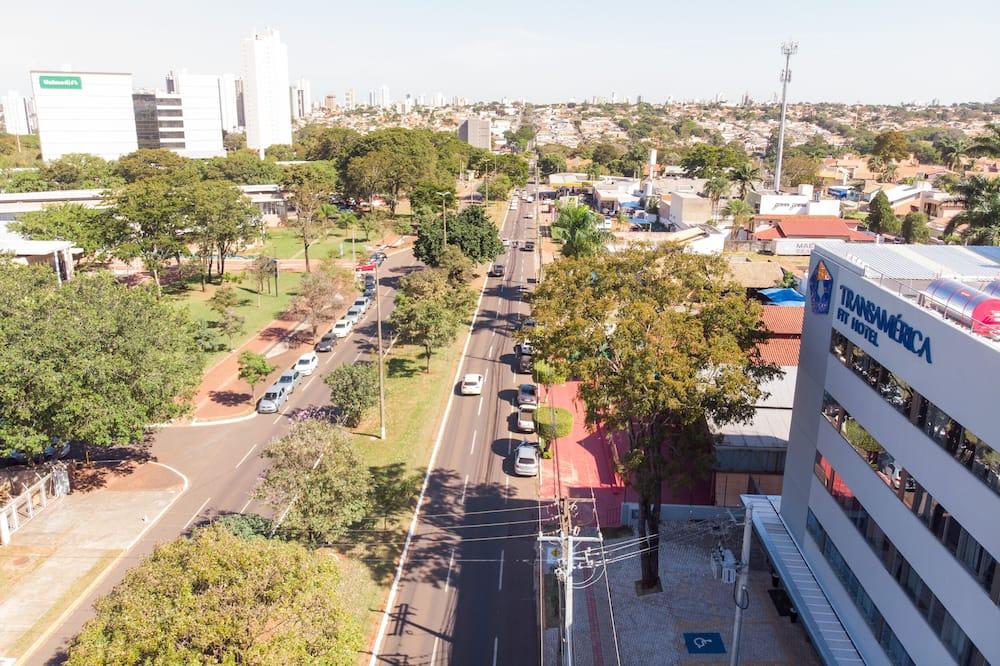 Utsikt mot byen