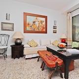 舒適公寓, 2 間臥室, 部分海景 - 客廳