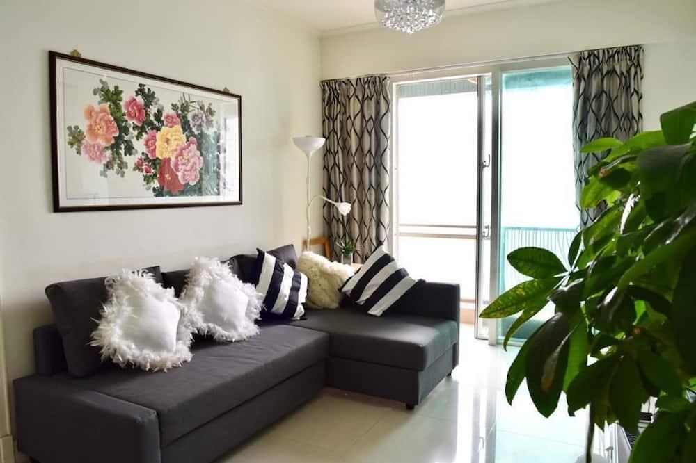 דירת יוקרה, מספר מיטות, נוף לים - סלון