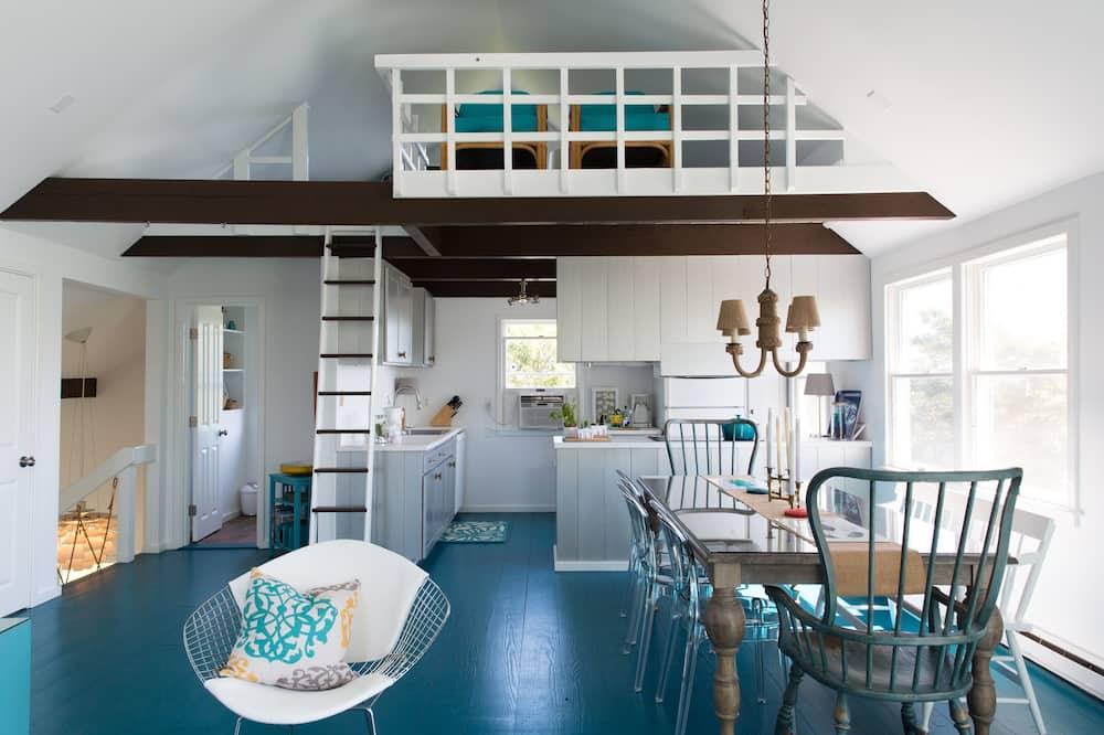 Maison Familiale, 4 chambres, non-fumeurs, vue océan - Coin séjour