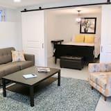 Apartmán, 1 veľké dvojlôžko s rozkladacou sedačkou, nefajčiarska izba, výhľad na záhradu - Obývačka