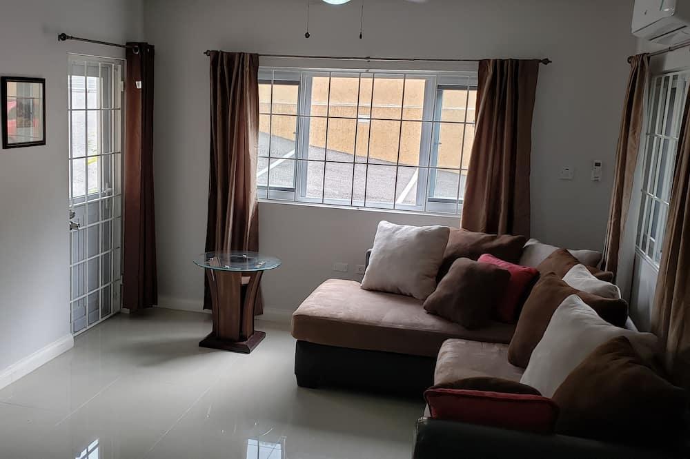 Deluxe Apartment, 1 Queen Bed, Non Smoking - Living Area