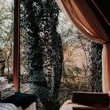 Liukso klasės kotedžas, vaizdas į kalnus - Svetainės zona