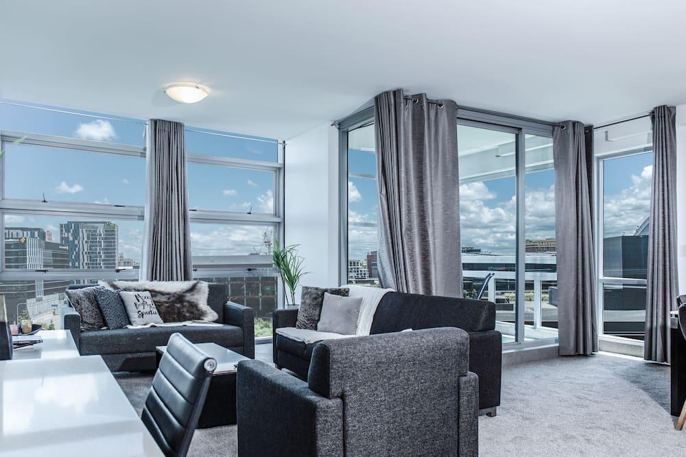 Appartement Ville, plusieurs lits, vue jardin - Coin séjour