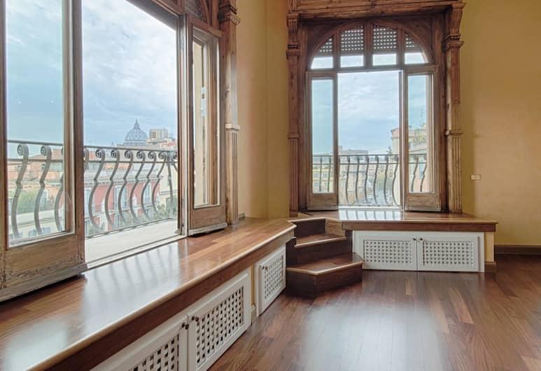 RSH Vatican Luxury View, Rome, City Apartment, 3 Bedrooms, 2 Bathrooms, Living Area