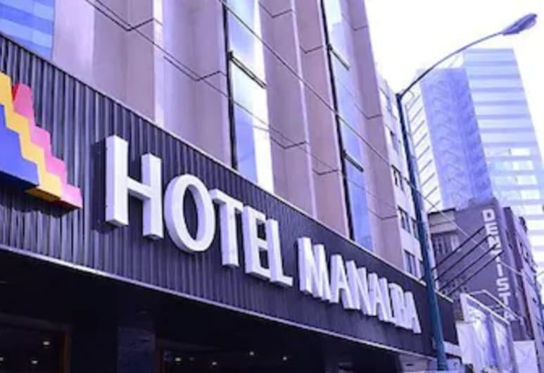 Hotel Manalba, Meksikas, Viešbučio fasadas