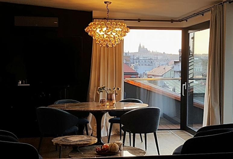 Hotel Republika & Suites, Prague, Appartement Duplex Présidentiel, terrasse, Vue sur la ville