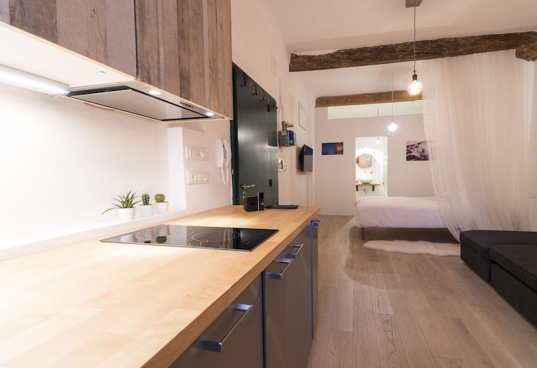 Lovely Studio D'azeglio, Bolonha, Estúdio, Cozinha privada