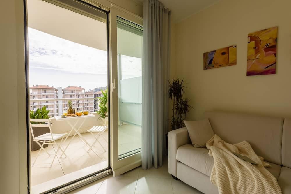Departamento, 1 cama doble con sofá cama, vista al patio (Anita Ekberg) - Sala de estar