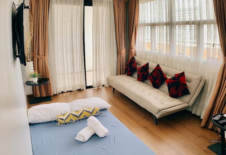 Spacious 1 BR Unit in AppleOne Ayala, Cebu, 1 Bedroom, Living Area