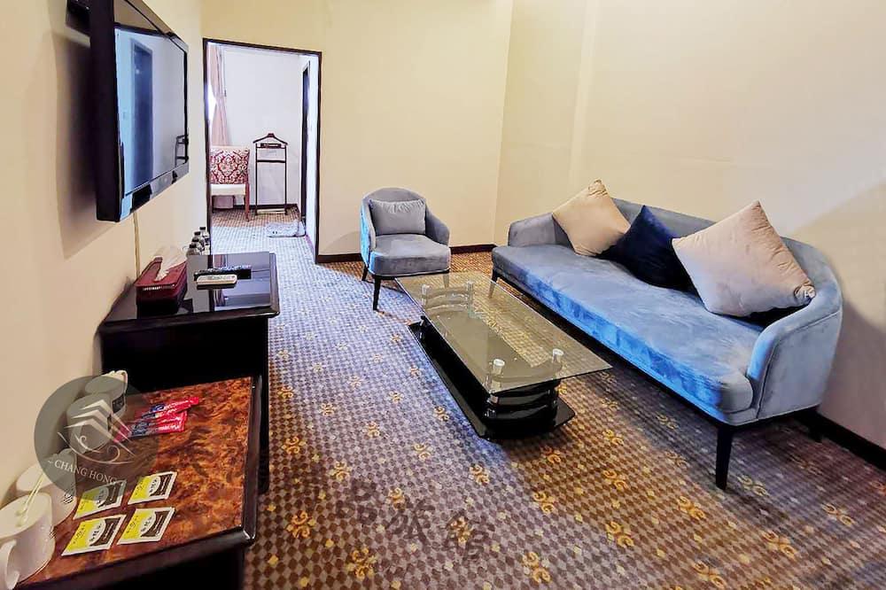 Klasikinio tipo numeris, 2 didelės dvigulės lovos, Nerūkantiesiems - Svetainės zona
