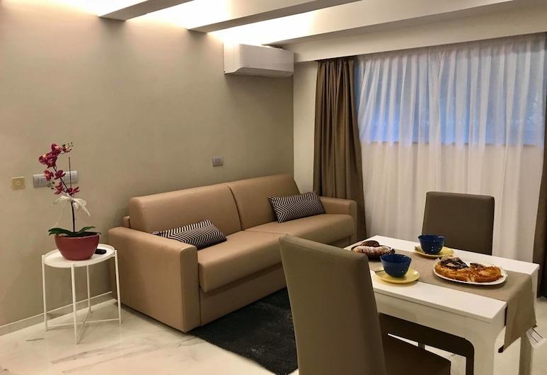 碼頭中央套房飯店, 里米尼, 公寓, 1 間臥室 (Aqua Azzurra), 客廳