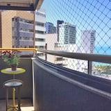 Apartman, Više kreveta, pogled na plažu - Balkon