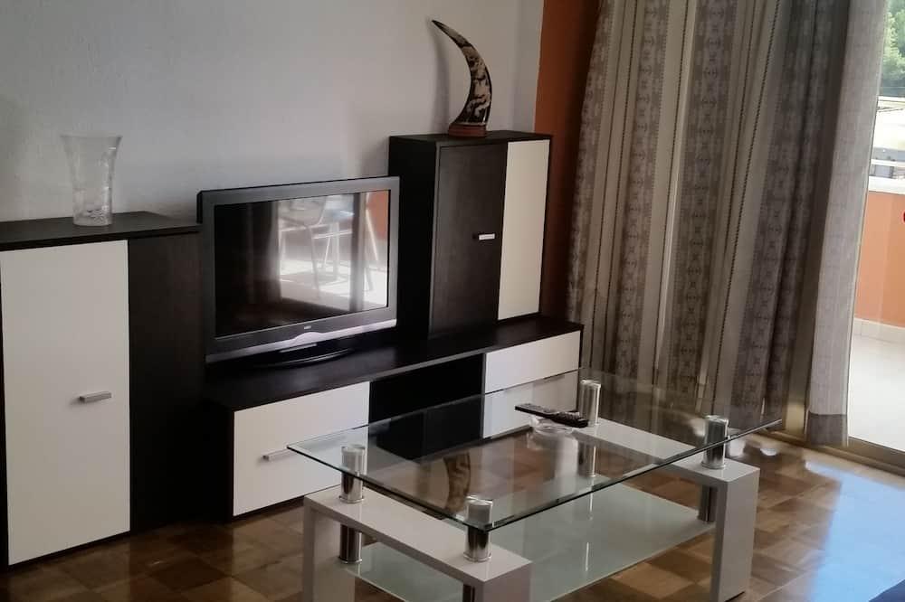 Apartmán, 1 dvojlôžko, nefajčiarska izba, terasa - Obývačka