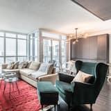 Luxus lakás, 2 hálószobával, nemdohányzó, kilátással a tóra - Nappali rész