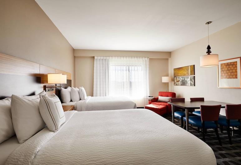 TownePlace Suites by Marriott St. Louis O'Fallon, O'Fallon, Stúdió, 2 queen (nagyméretű) franciaágy, Szoba