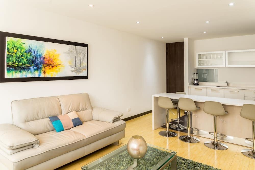 Apartmán typu Business, 2 dvojlůžka (180 cm), nekuřácký - Obývací prostor