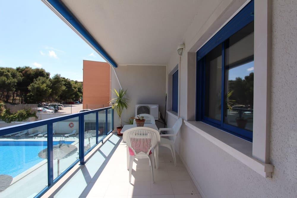 Apartamentai, 2 miegamieji, balkonas - Balkonas