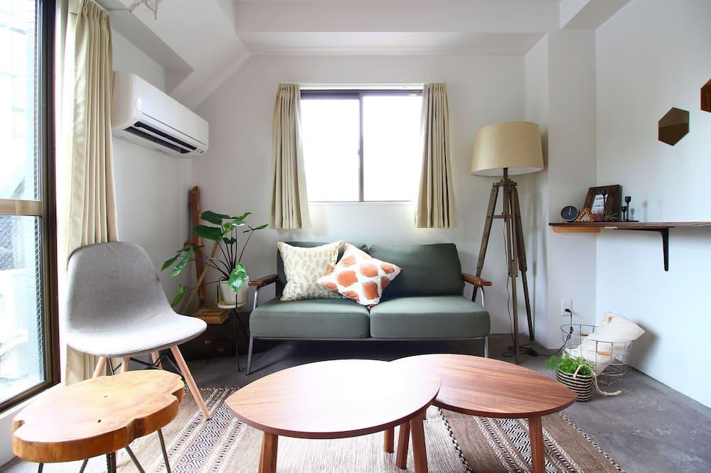 Habitación familiar, vista a la ciudad - Sala de estar