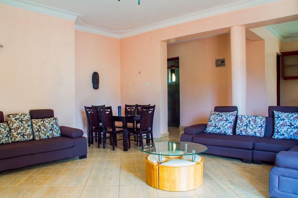 Deluxe appartement, 2 slaapkamers - Eetruimte in kamer