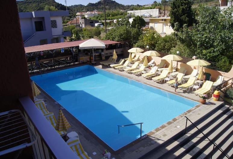 Lisa Hotel, Rodosz, Basic szoba, kilátással a medencére, Vendégszoba kilátása