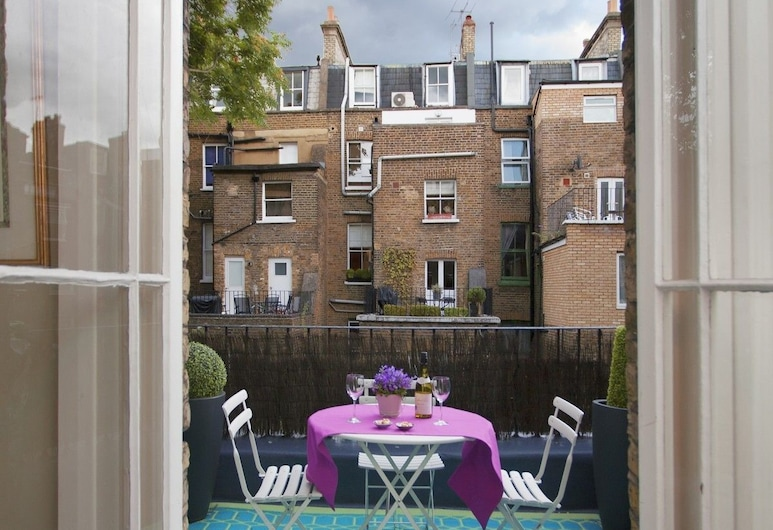 Chelsea Italian Design Home with Terrace, London, Apartment, 1 Bedroom, Balcony