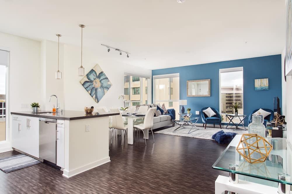 Premier apartman - Nappali rész
