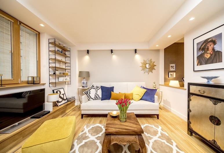 Golden Apartament by Your Freedom, Varsova, Premium-huoneisto, Oleskelualue