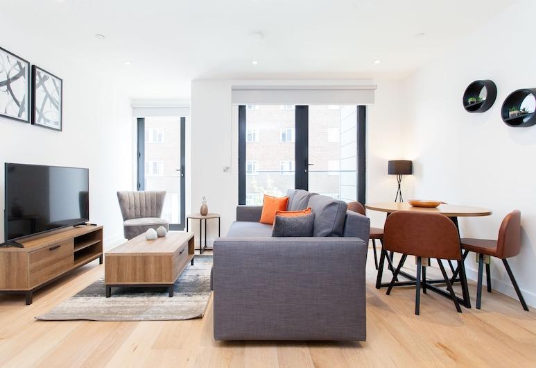 The Lofts E1, London, Premium-lejlighed - 1 soveværelse, Opholdsområde