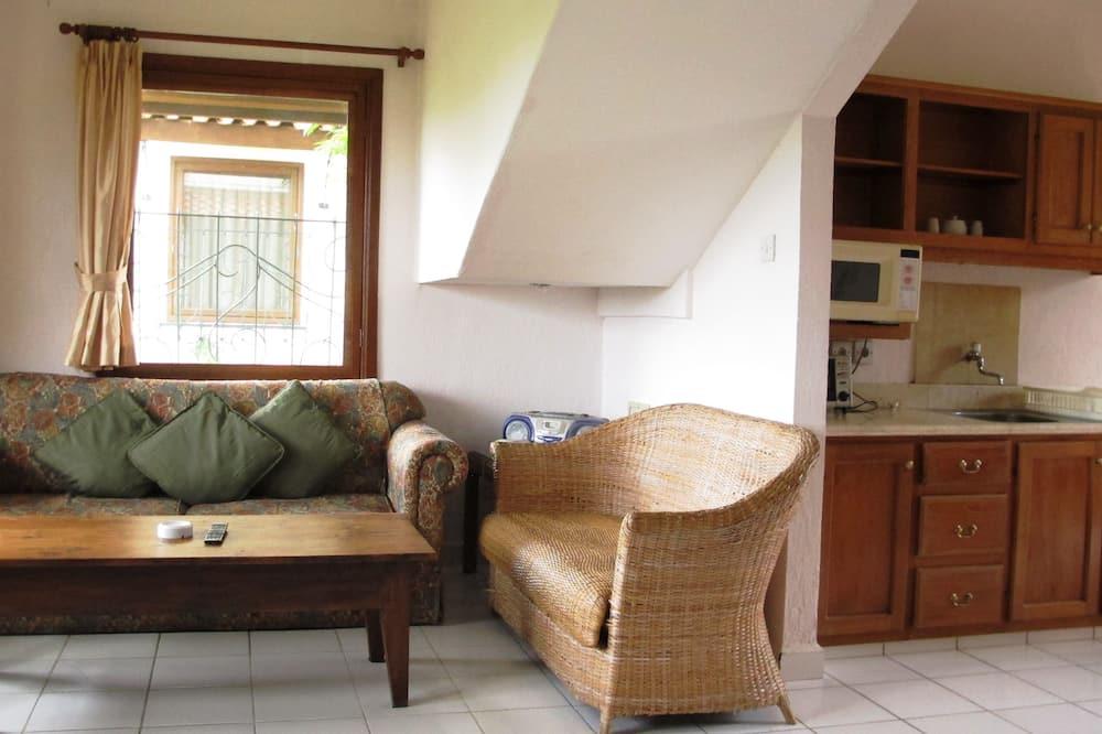 Appartement Familial, 1 grand lit, non-fumeurs, vue jardin - Coin séjour