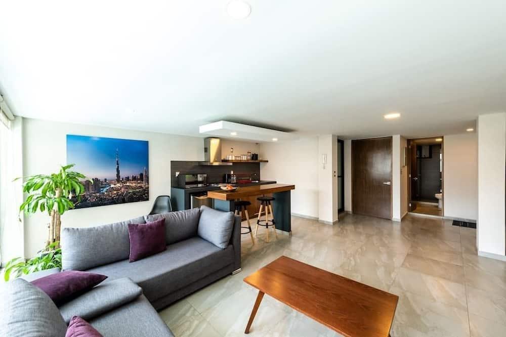 Basic Apartment, 1 Katil Ratu (Queen) - Ruang Tamu