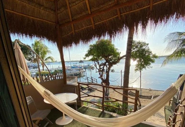 Bahía Tolok, Ісла-Мухерес, Апартаменти «Делюкс», 2 спальні, тераса, з видом на море, Тераса/внутрішній дворик