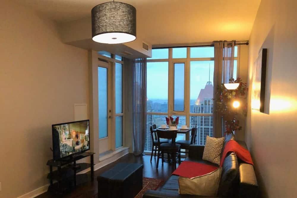 Luxury Apartment, 1 Katil Ratu (Queen) dengan Katil Sofa, Non Smoking, City View - Ruang Tamu