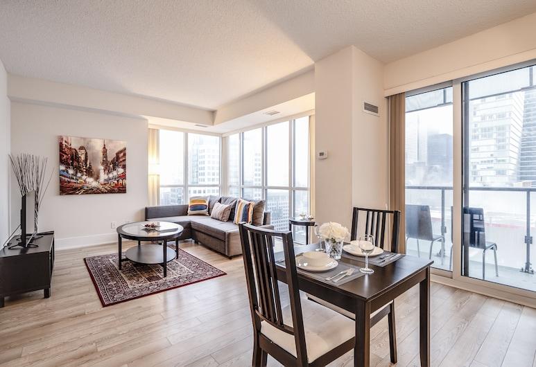 Galaxy Suites 300 Front Unit 2705, Toronto, Appartement, 1 queensize bed met slaapbank, niet-roken, Woonruimte