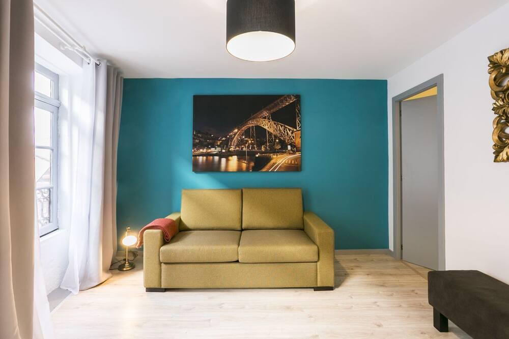 Departamento urbano, vista a la ciudad (Turquoise) - Sala de estar