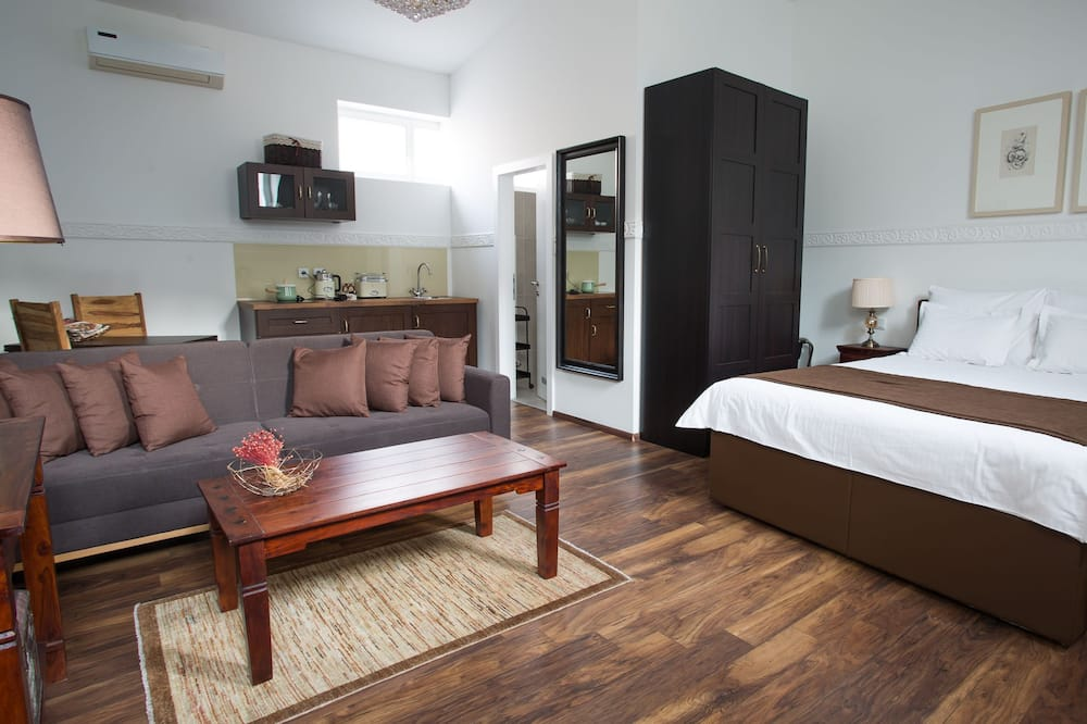 Appartement Confort, vue parc - Coin séjour