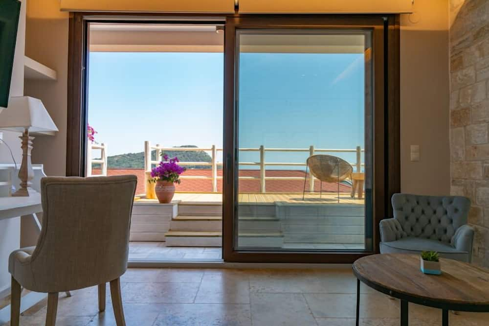 Suite Deluxe, 1 habitación, vistas al mar - Zona de estar
