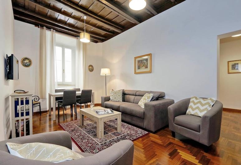 Pellegrino - WR Apartments, Rome, Apartment, 1 Bedroom, Living Room