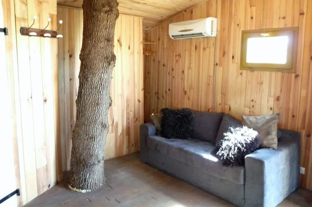 Lombház, 1 kétszemélyes ágy és egy kihúzható kanapé - Nappali rész