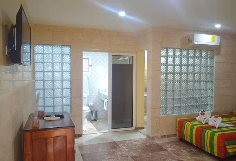Hostal Los Mangos, Santa Marta, Kamar Quadruple Standar, 2 Tempat Tidur Double, non-smoking, Kamar Tamu