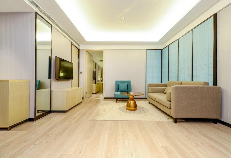 City Comfort Inn Xiamen Gulangyu Island Songyu Pier, שיאנמן, חדר טווין (Jingguan), סלון